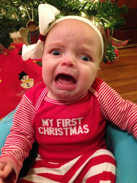 Funny Christmas baby picture