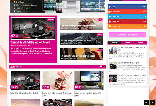 Apritez Blogger Template Free Download