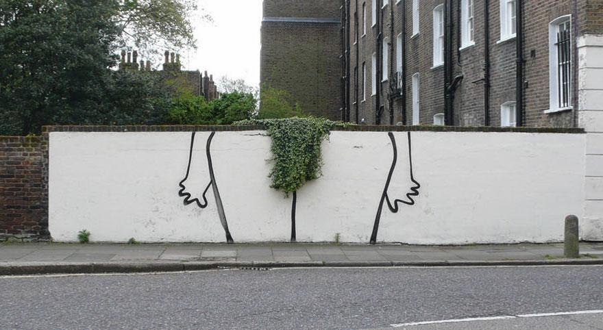 28 Pieces Of Street Art That Cleverly Interact With Their Surroundings - Bush, London, UK