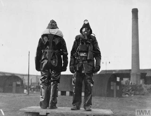 New Royal Navy fire-fighting gear being demonstrated, 27 December 1941 (worldwartwo.filminspector.com