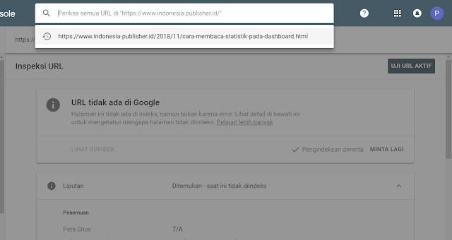inspeksi URL pada webmaster google