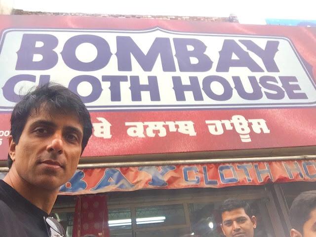 Sonu Sood outside his showroom in Punjab