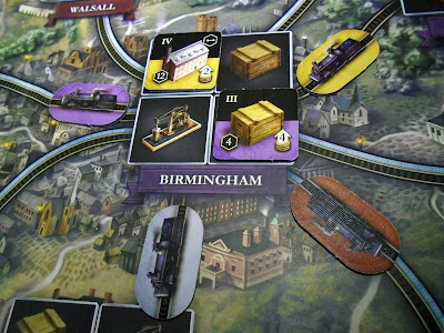 Brass Birmingham multiplayer railroad connections for boardgame