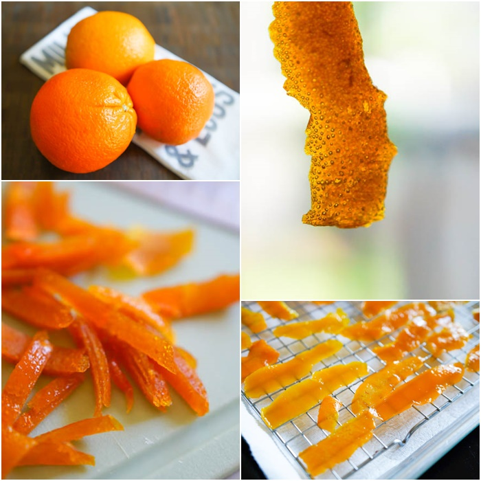 how to make candied orange peel for dipping in chocolate, cookies, breads, candies, etc. | bakeat350,net