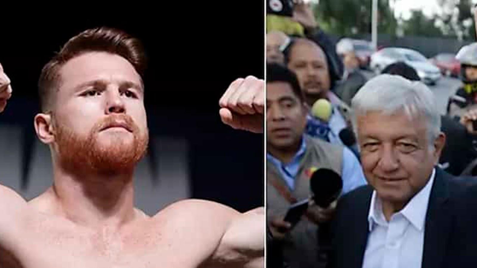 """""""Canelo"""" Álvarez le pide a López Obrador que """"sea un buen presidente"""""""