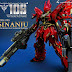 "Custom Build: MG 1/100 MSN-06S Sinanju Ver. Ka ""Dual Bazooka + Gatling Gun"""