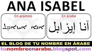 Nombres en Arameo: Ana Isabel