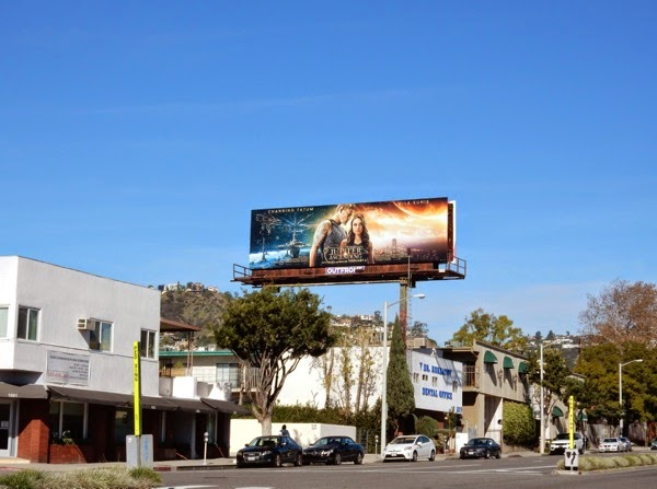Jupiter Ascending movie billboard
