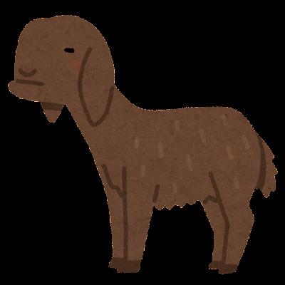 ダマスカスヤギのイラスト
