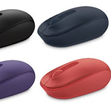 Microsoft Wireless Mobile Mouse 1850, Bodi Warna-warni, Pas di Tangan