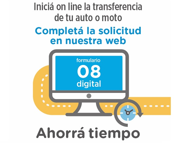Formulario 08 online para la transferencia de vehículos