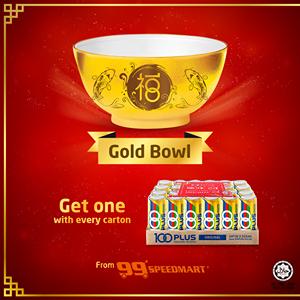 100PLUS Malaysia Free Gold Bowl 99 Speedmart Promo