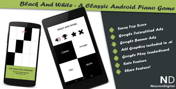 Black and White v4 - A Classical Android Piano Game