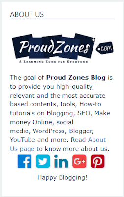 about author blogger gadget