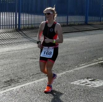 Lady runners' 5k section 5k of  the Keyo Brigg Sprint Triathlon 2017 on Sunday,  September 24