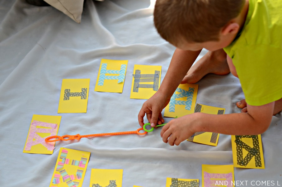 Hands on math activity for kids learning about
