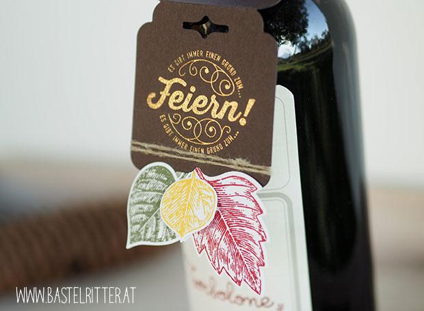 Nette Etiketten Cheerful tags thinlits stampin' up! Bastelritter