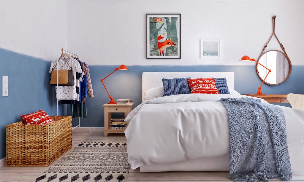 scandinavian bedroom idea