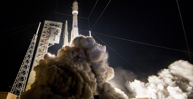 A United Launch Alliance Atlas V 541 lifts off with NASA's GOES-R satellite. Credit: ULA