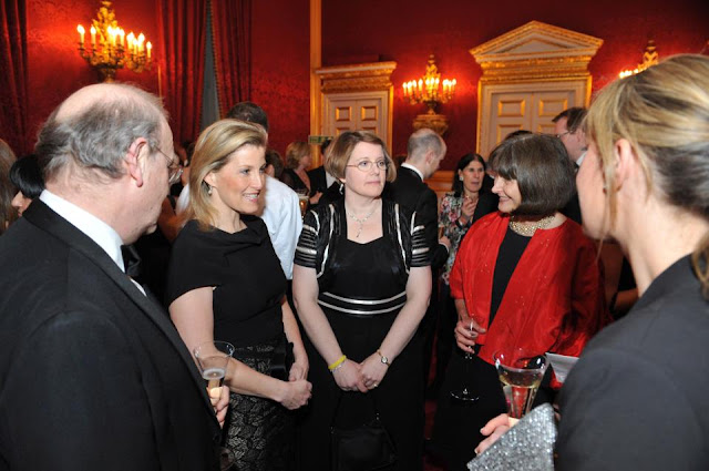 The Countess of Wessex attend a dinner at St. James's Palace