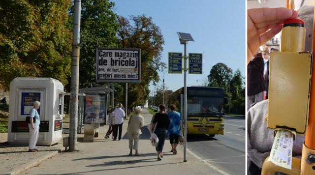 Sibiu - Busbahnhof Nufarul und Entwerten des Tickets
