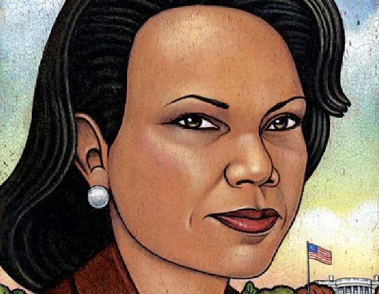 Condoleezza Rice - Grandes personalidades pintada por Marc Burckhardt