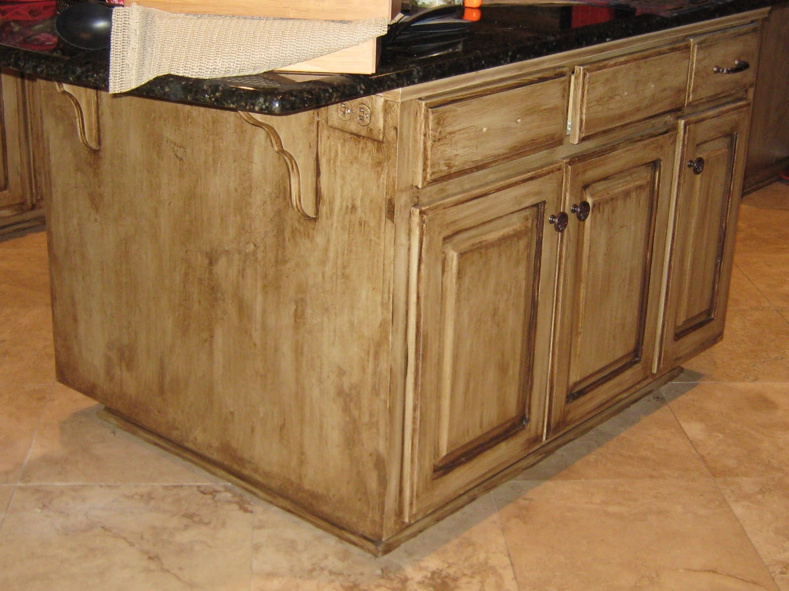 Painted Kitchen Islands Average Cost For Cabinets Lynda Bergman Decorative Artisan Re Painting Susan 39s