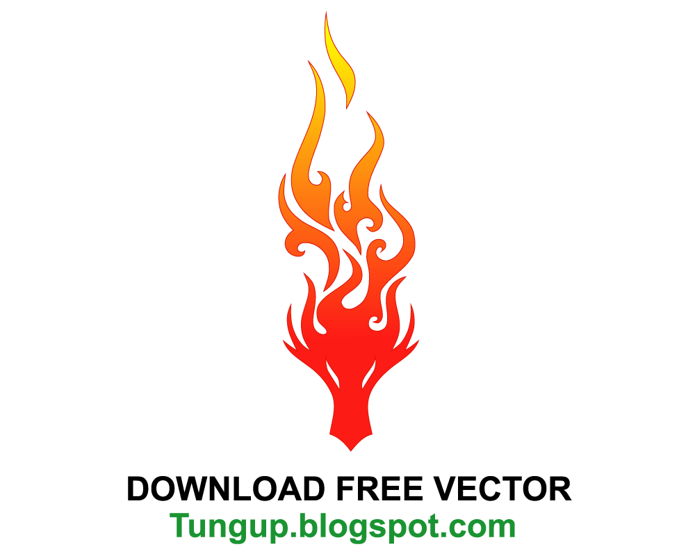 Free download logo dragon head burning fire tung up for Logo download free online