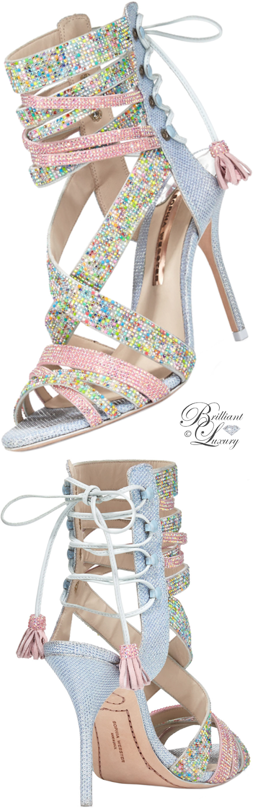 Brilliant Luxury ♦ Sophia Webster Adeline dreamy crystal lace-up sandal