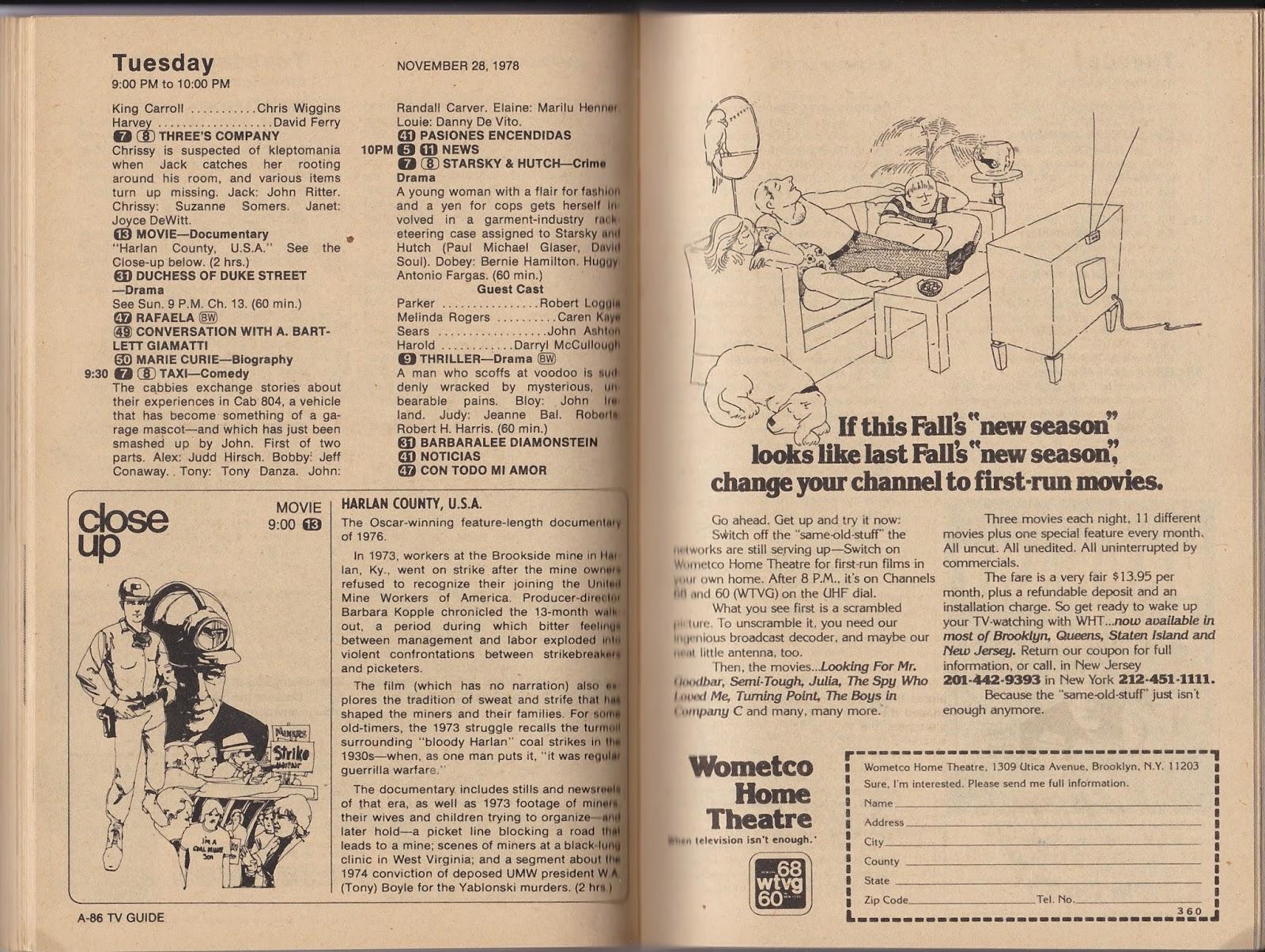 Garage Sale Finds: What was on TV November 25th through December 1st, 1978