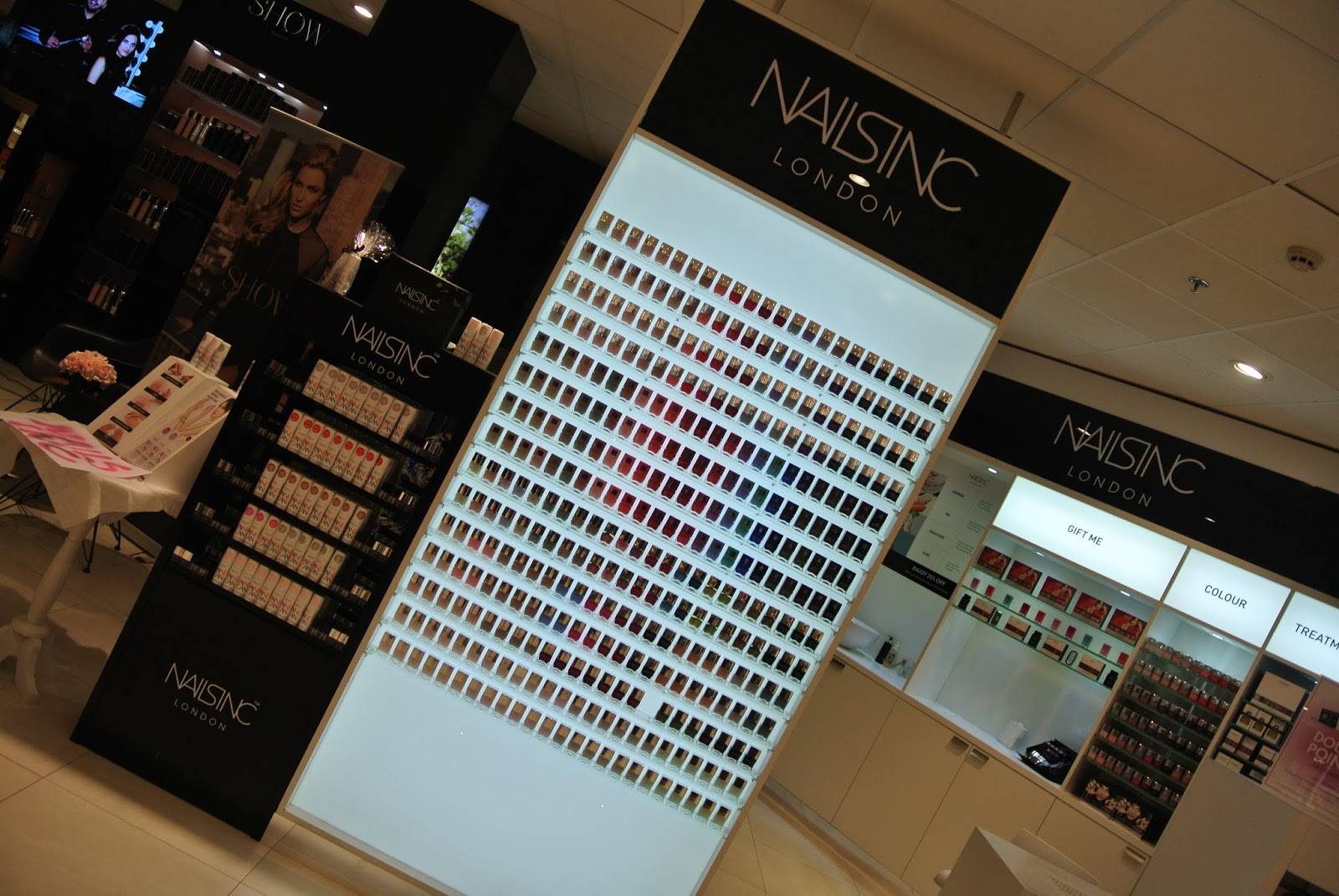 Nails Inc Express Manicure at House of Fraser, Metrocentre. Gel Effect Polish in Charlotte Villas Image