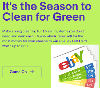 Ebay Gift Card Giveaway 1 500 Winners Win 10 25 Or 50 Gift Card Daily Entry Ends 4 30 18 Heavenly Steals