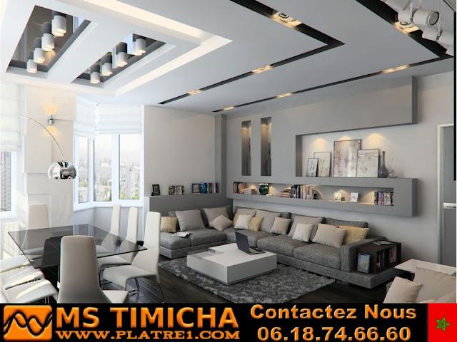 faux plafond design ms timicha platre maroc
