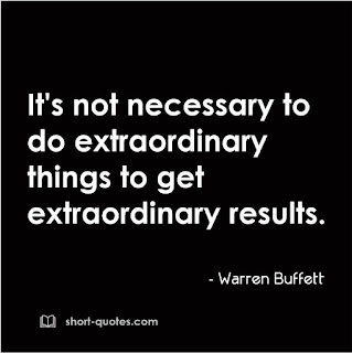 extraordinary things quote warren buffett