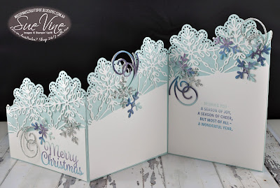 ESAD Holiday Catalogue Fancy Fold Snowflake Sentiment card