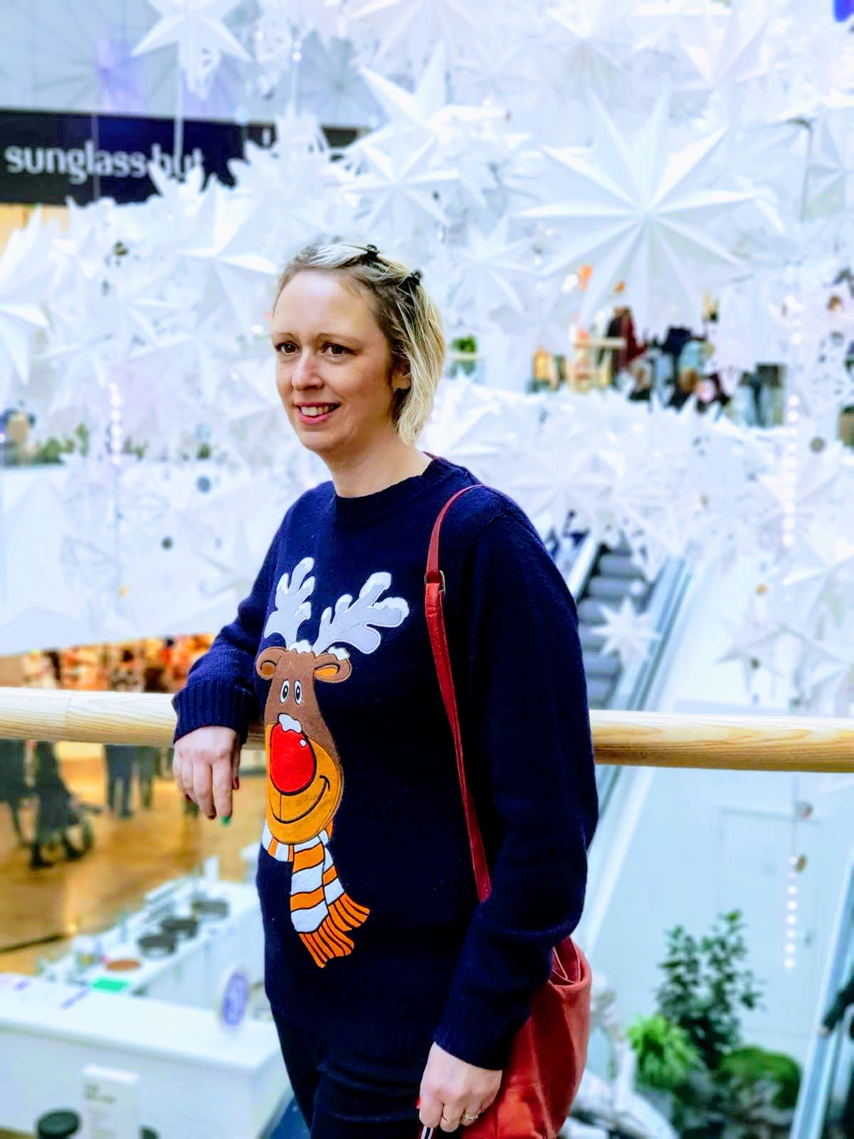 Christmas Shopping Meadowhall And Christmas Reindeer Jumper