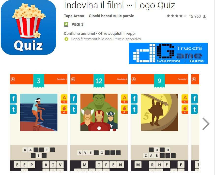 Soluzioni Indovina il film! Logo Quiz di tutti i livelli | Walkthrough guide