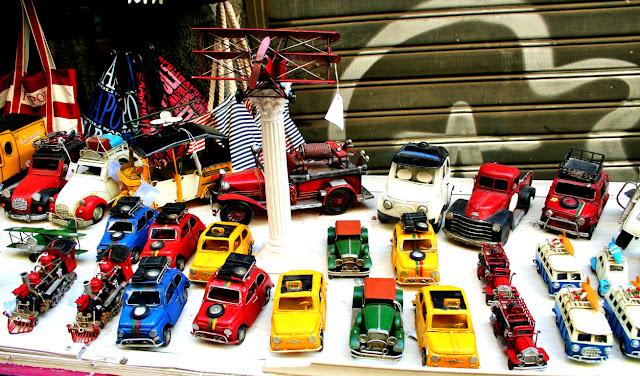 modellini auto, 500, auto antiche, auto d'epoca, Spaccanapoli, napoli