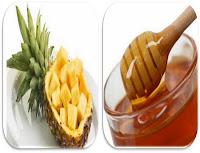 Remédio contra a gripe: abacaxi e mel