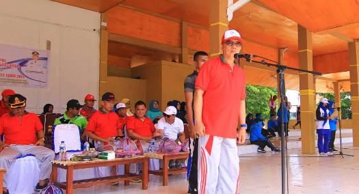 Sekda Pimpin, Upacara Pembukaan Porseni Korpri 2018 Kab. Kep. Selayar