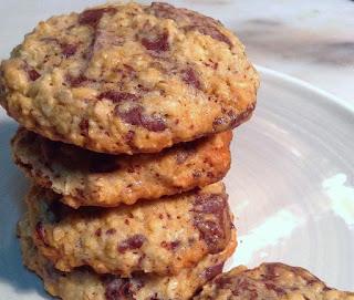 Cookies de Aveia com Chocolate low carb