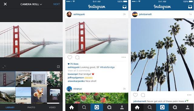 Instagram versi terbaru 2015