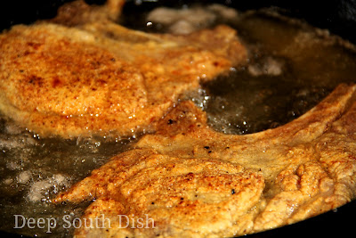 Deep South Dish Pan Fried Pork Chops