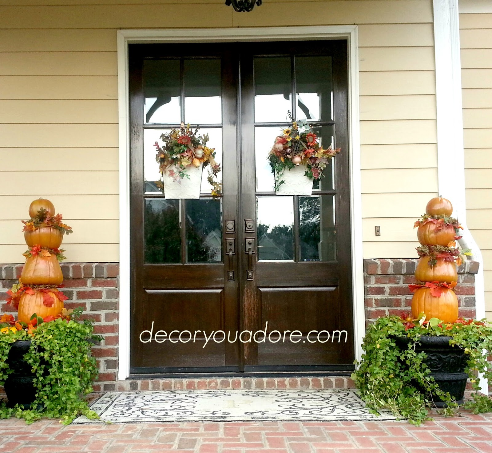 Hgtv Front Door Fall Decorations: Decor You Adore: The Lazy Girl's Guide To Easy Fall Decorating