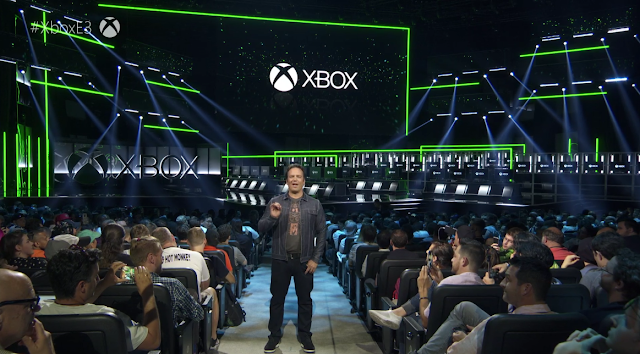 Phil Spencer Xbox E3 2018 Microsoft audience crowd Lord Hot Monkey