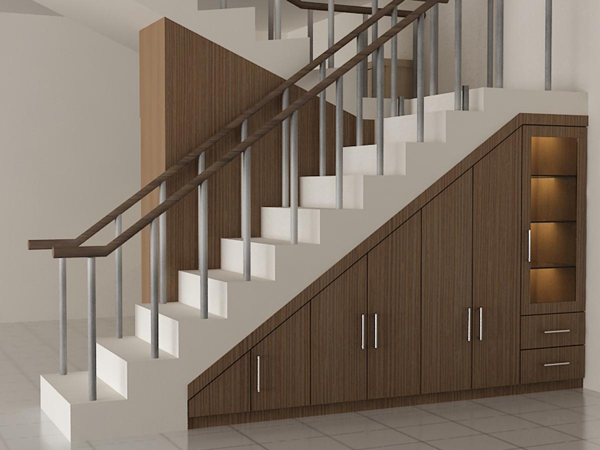 DESAIN LEMARI BAWAH TANGGA - Dian Interior Design