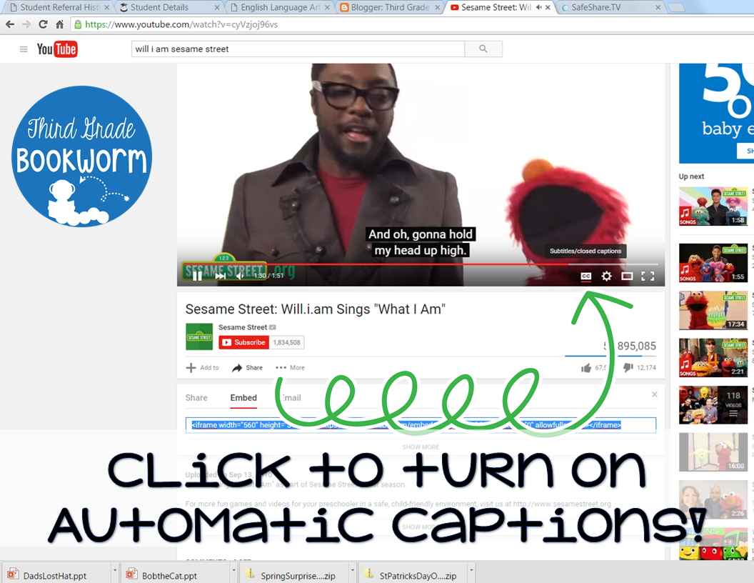 Adding Captions to YouTube Videos + An Updated FUN Freebie