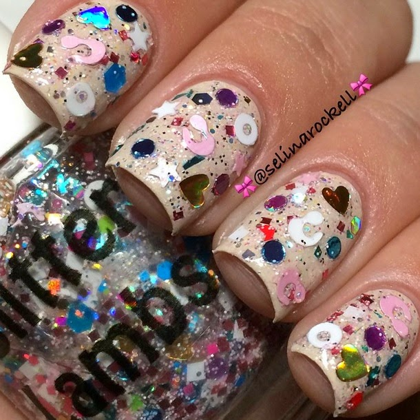 Handmade Indie Glitter Topper Nail Pictures- Glitter Nails