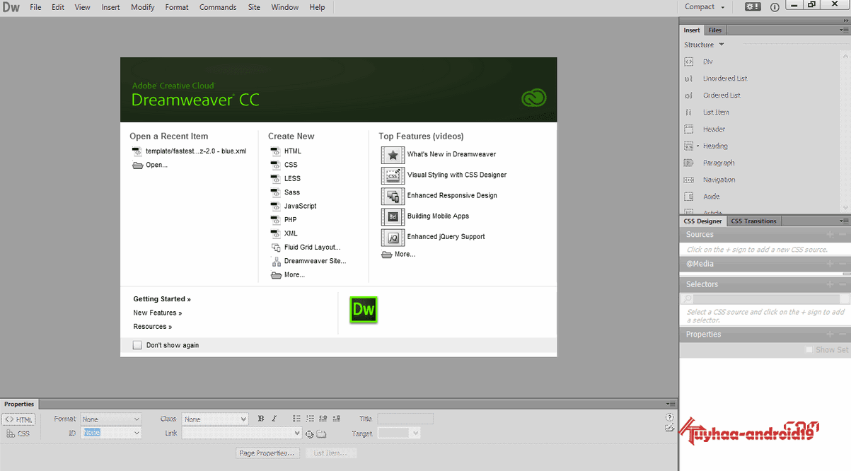 Adobe Dreamweaver CC 2014 full kuyhaa