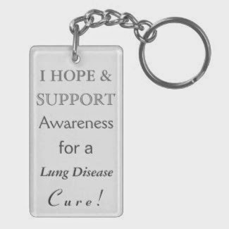 Lung Disease Pearl Awareness Ribbon Custom Art Key Chains